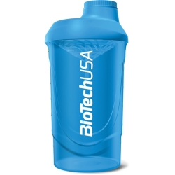 BioTech USA Shaker Wave Cyjan 600ml