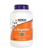 NOW Foods L-Arginine 500mg 250 kaps.